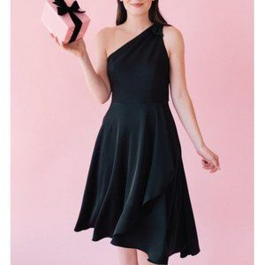 GAL MEETS GLAM One Shoulder Dress With Pockets NWT